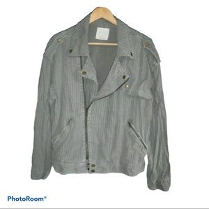 Free People Military Green Moto Jacket Small